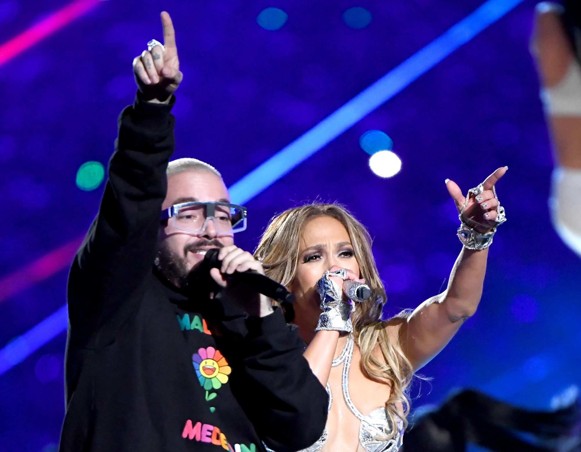 Jennifer Lopez and J Balvin