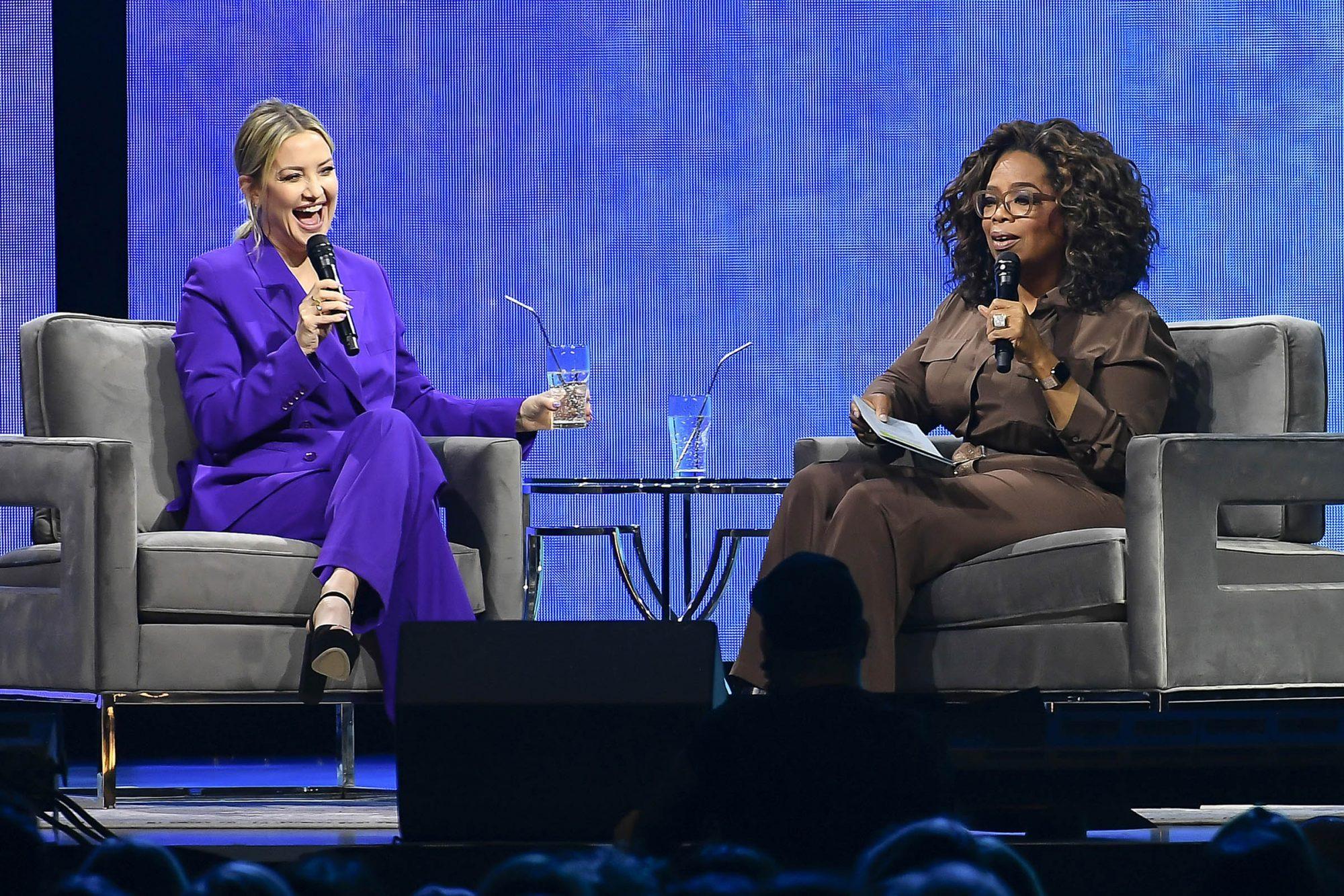 Kate Hudson and Oprah Winfrey