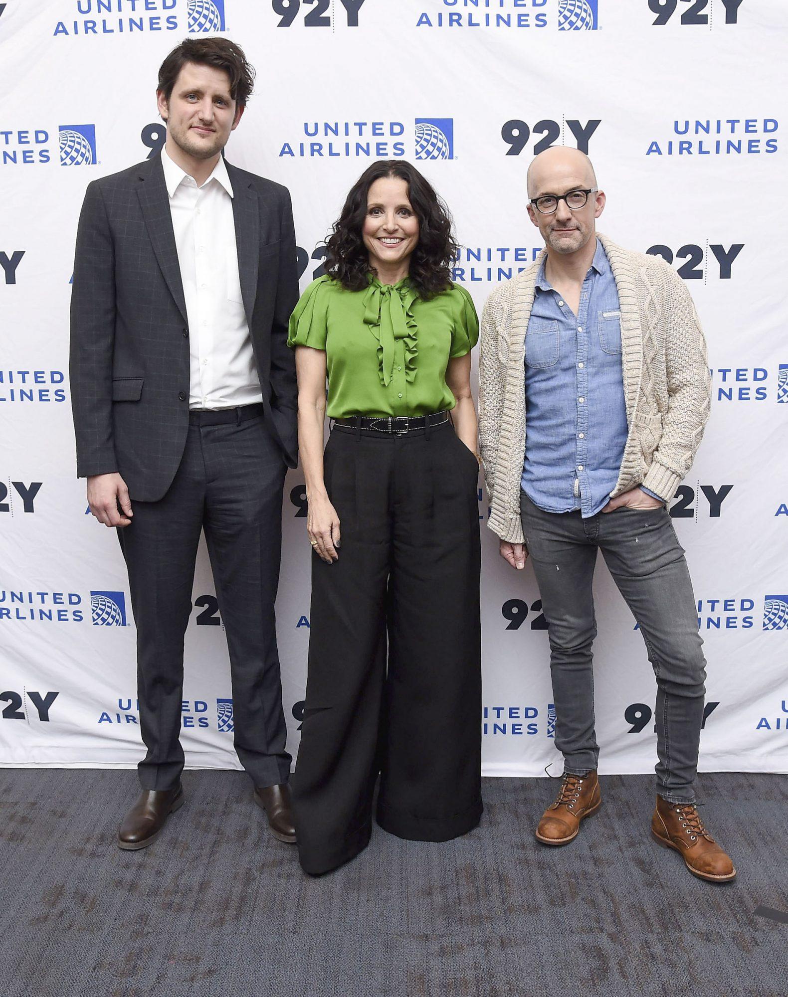 Zach Woods, Julia Louis-Dreyfus and co-director Jim Rash