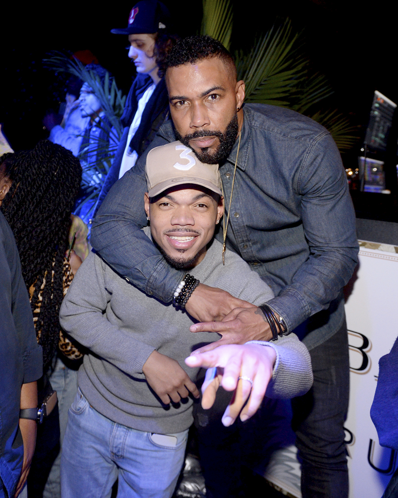 Chance the Rapper and Omari Hardwick