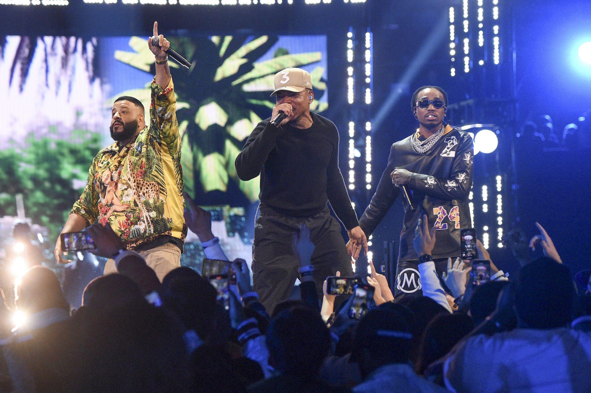 DJ Khaled, Chance the Rapper, and Quavo