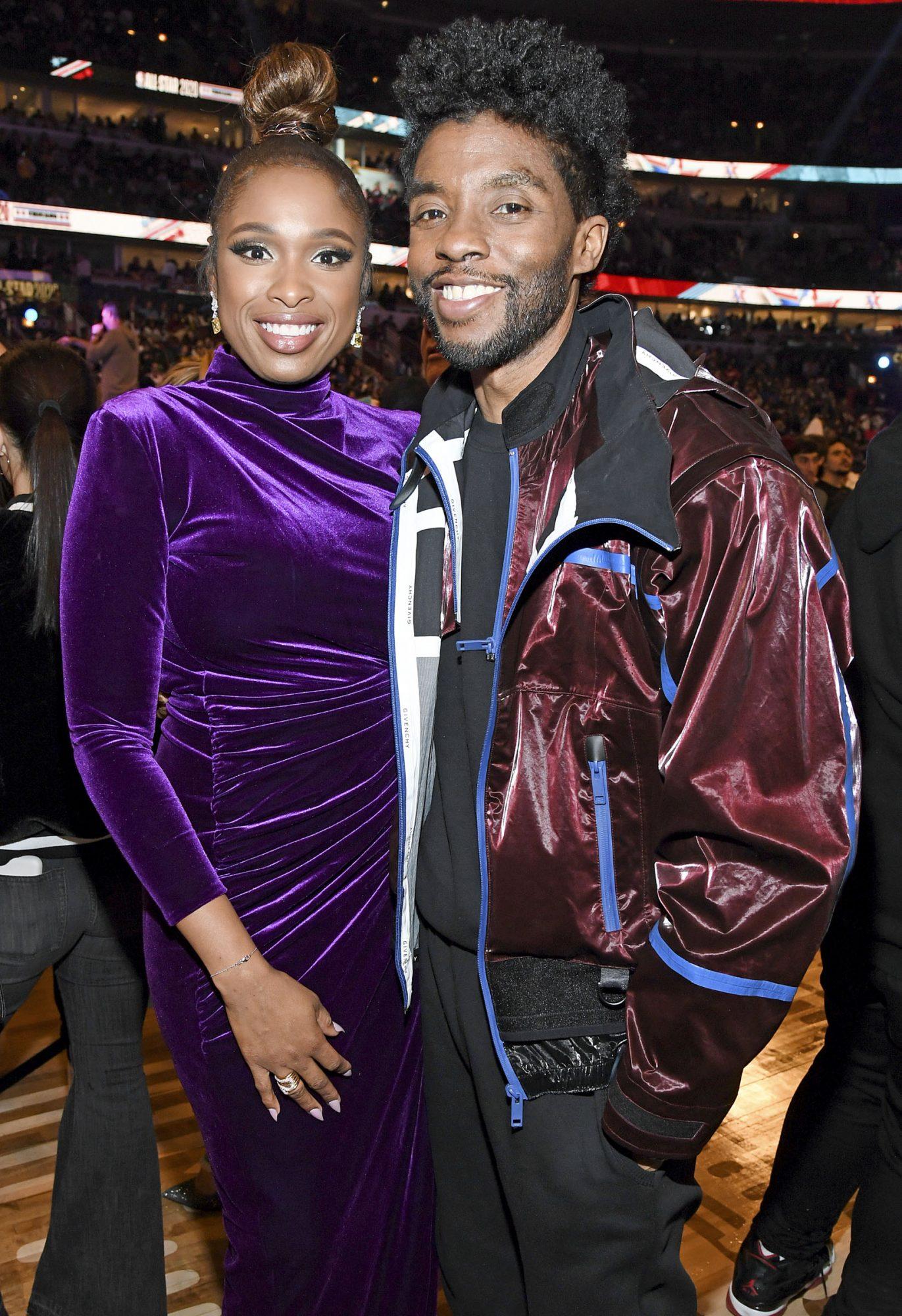 Jennifer Hudson and Chadwick Boseman