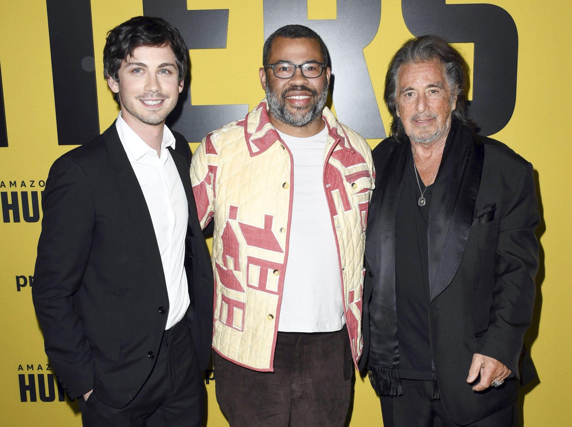 Logan Lerman, Jordan Peele, and Al Pacino