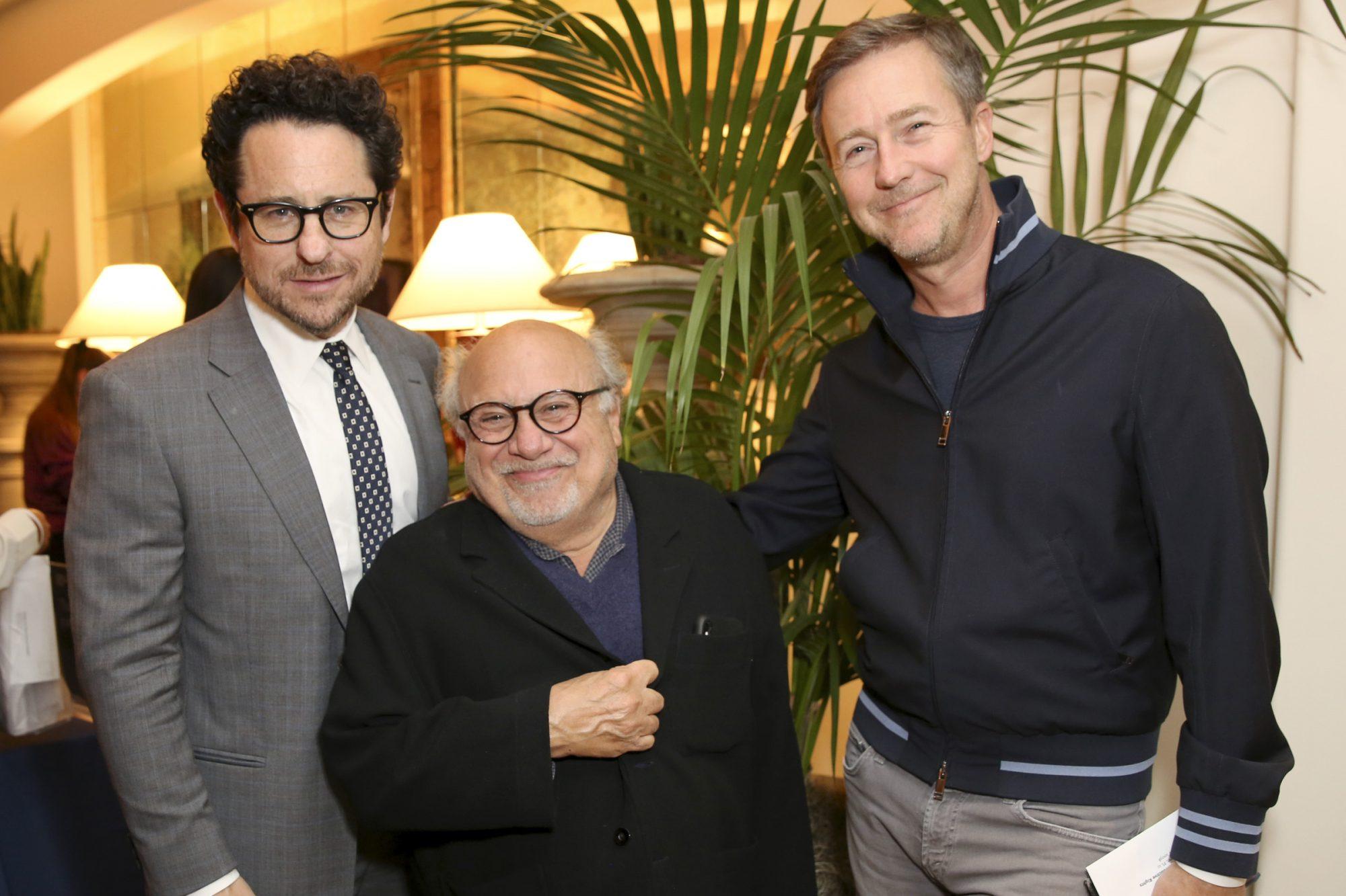 J.J. Abrams, Danny DeVito and Edward Norton