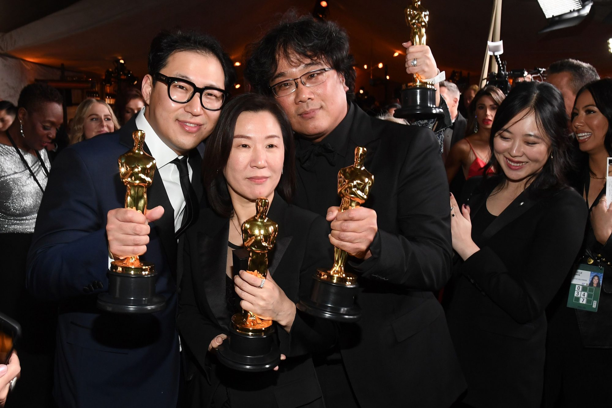 Han Jin-won, Kwak Sin-ae and Bong Joon Ho