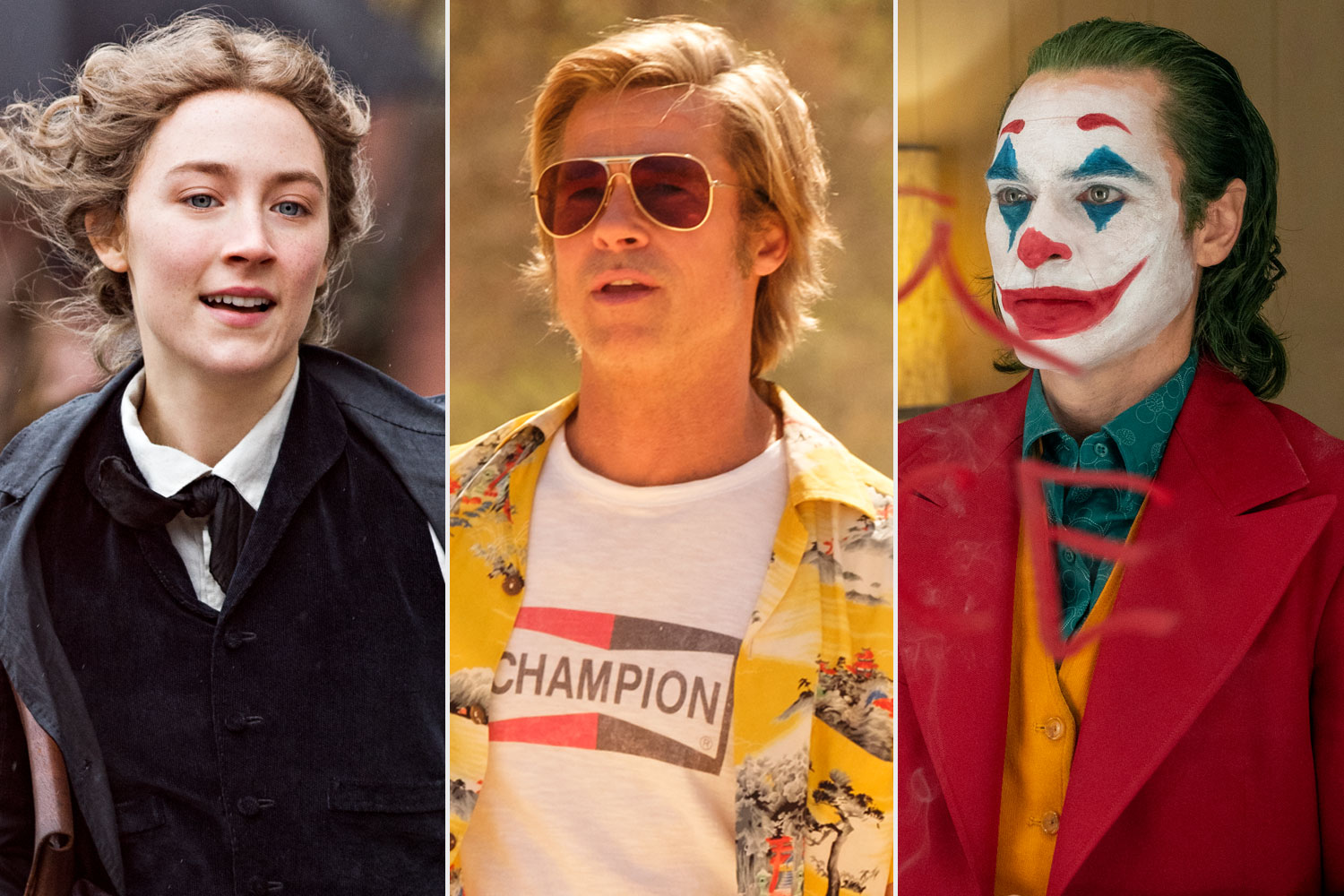 LITTLE WOMEN; Once Upon a Time in Hollywood; Joker