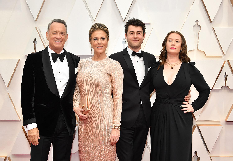 om Hanks, Rita Wilson, Truman Theodore Hanks, and Elizabeth Hanks