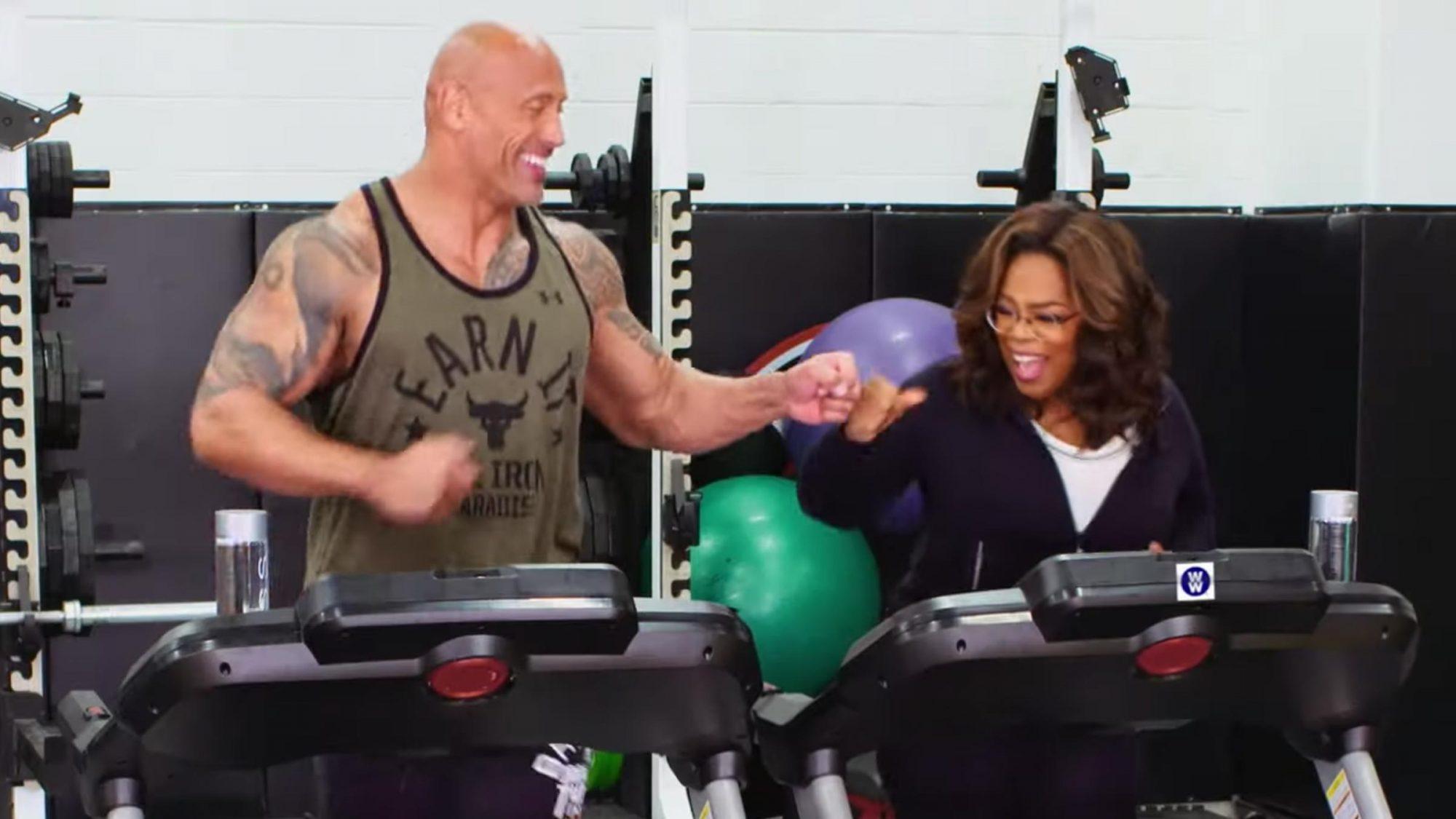 Oprah & Dwayne Johnson