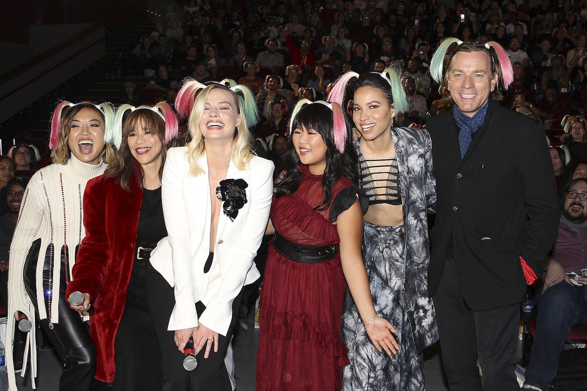 Cathy Yan, Rosie Perez, Margot Robbie, Ella Jay Basco, Jurnee Smollett-Bell, Ewan McGregor