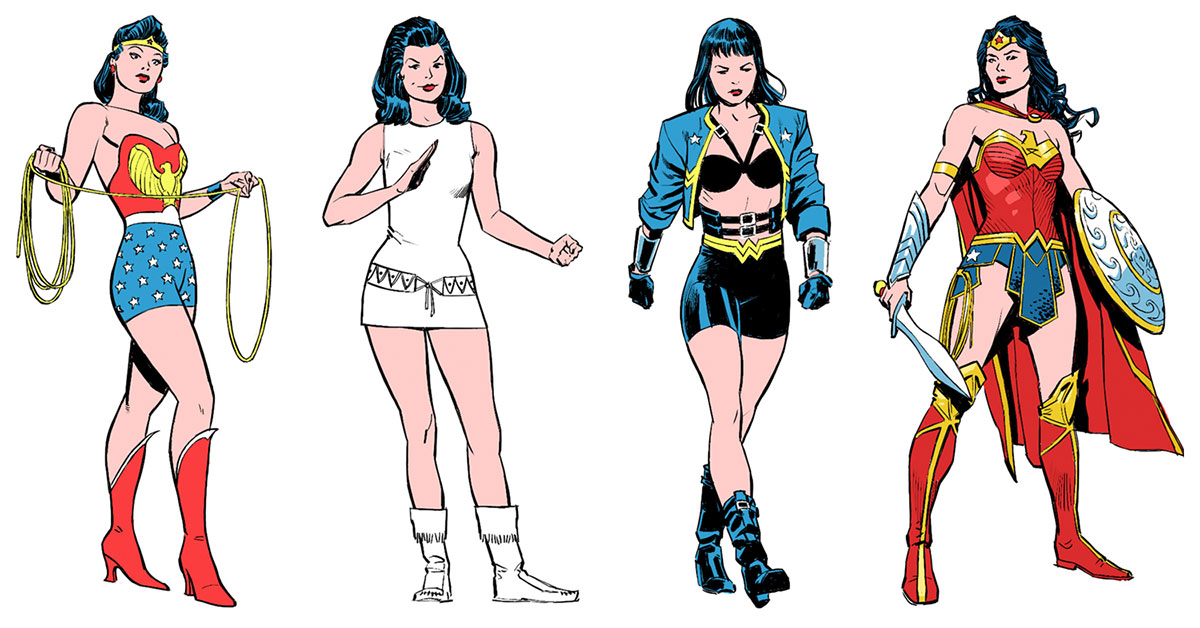 See how Wonder Woman's costumes changed through the years