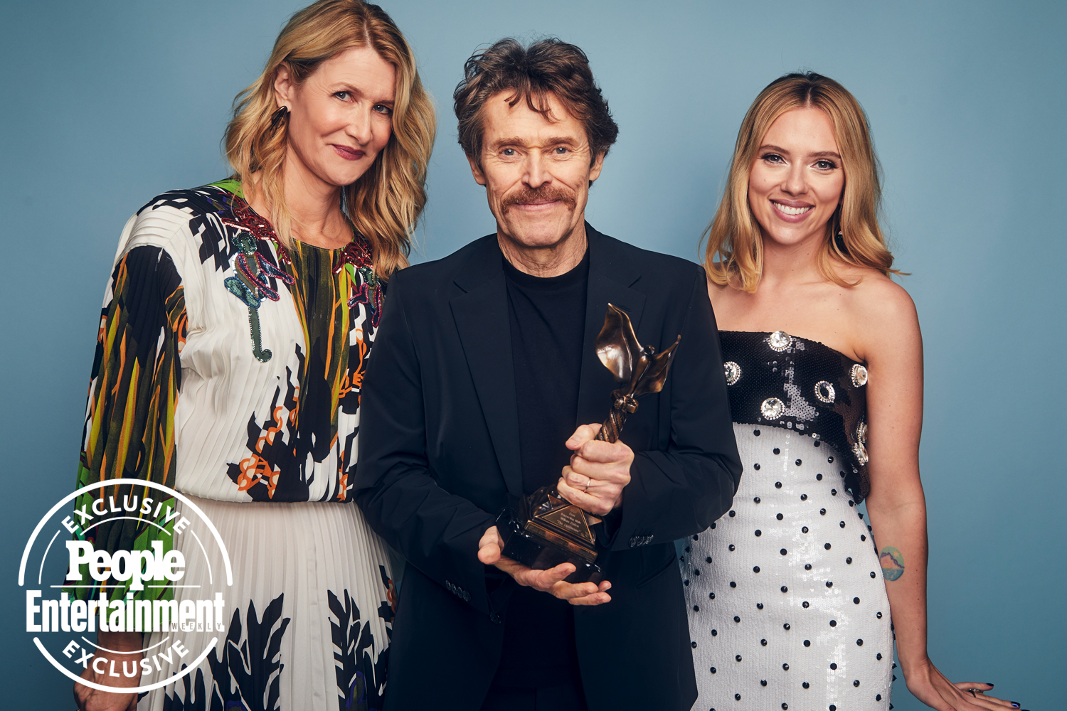 Laura Dern, Willem Dafoe, and Scarlett Johansson