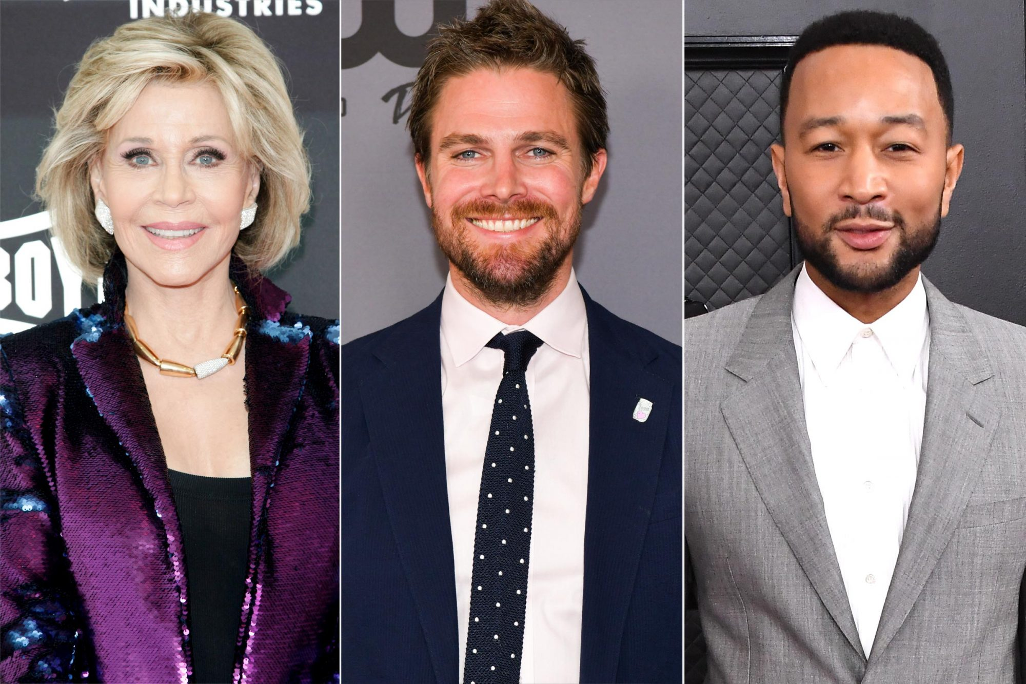 Jane Fonda, Stephen Amell, John Legend