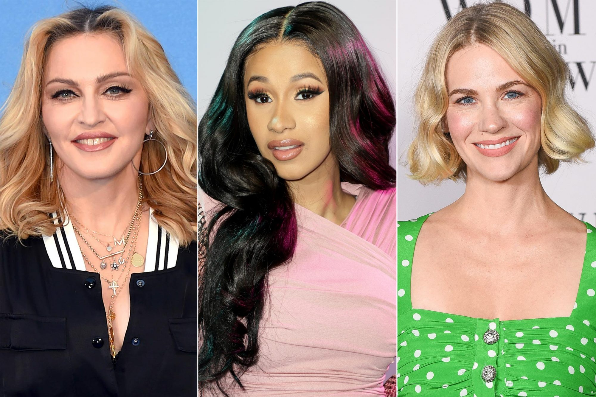 Madonna Cardi B and January Jones
