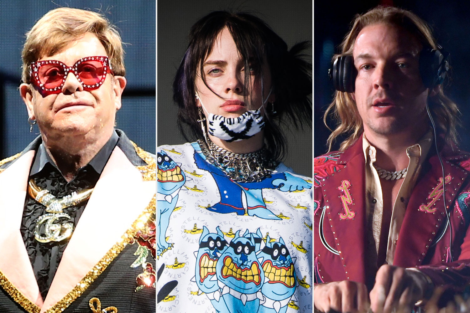 Elton John, Billie Eilish, Diplo