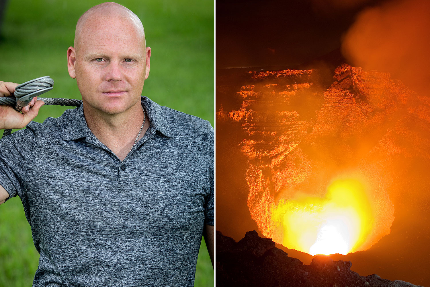 Nik Wallenda answers our burning questions about walking on a wire over a volcano