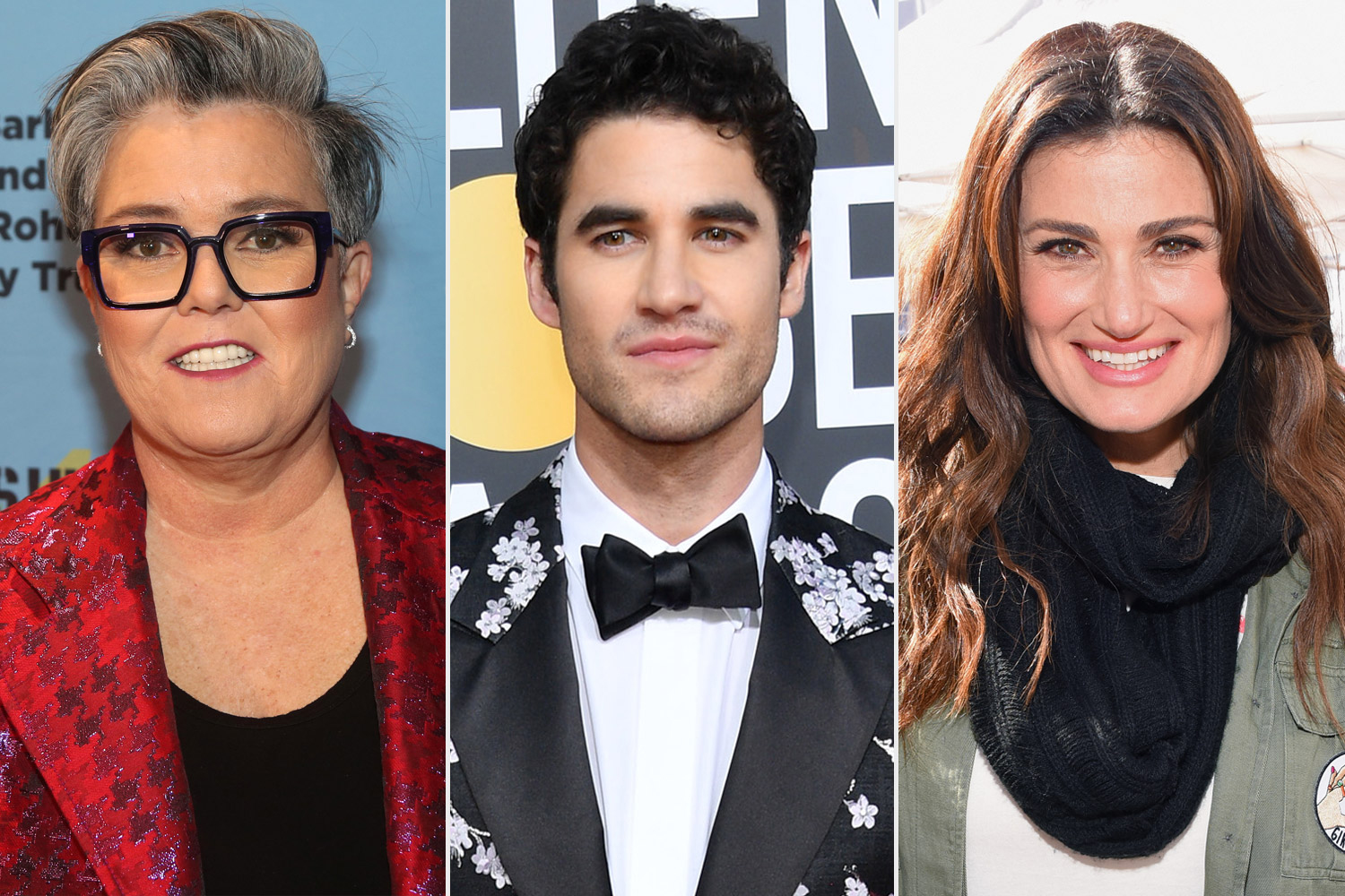 Rosie, Darren Criss, and Idina-Menzel