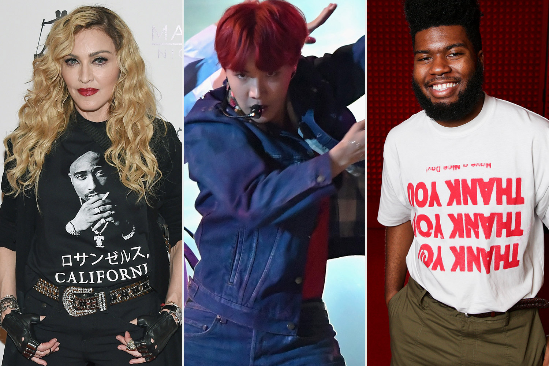 Madonna, BTS, Khalid