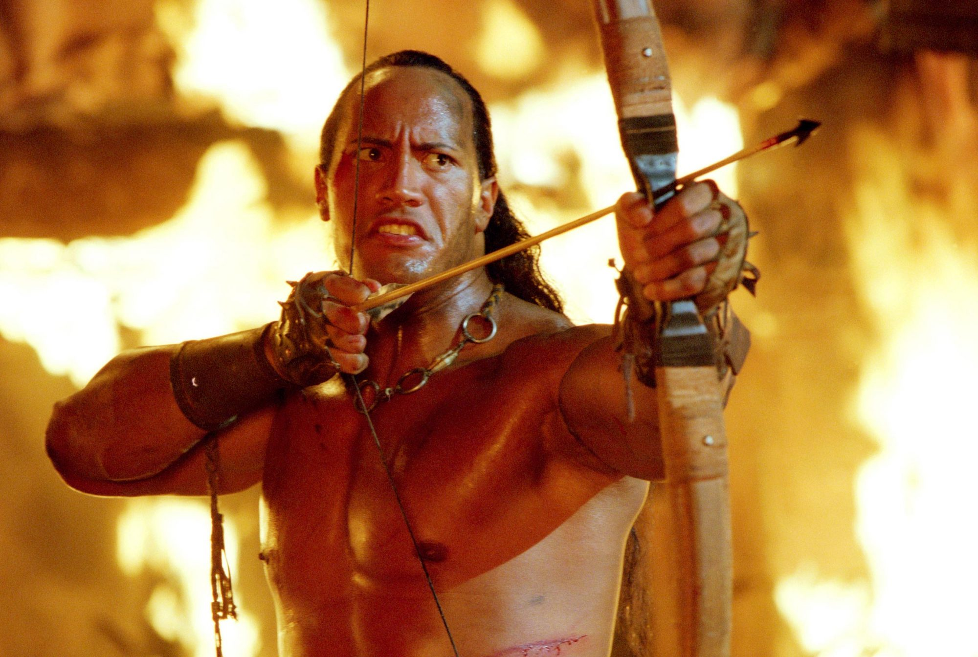 THE SCORPION KING, The Rock (aka Dwayne Johnson), 2002, ©Universal Pictures/courtesy Everett Collect