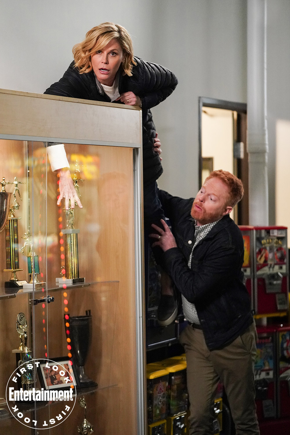 Claire and Mitchell (Jesse Tyler Ferguson) are skating on thin ice