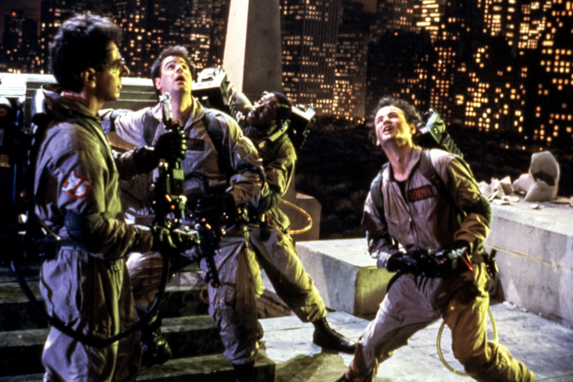 GHOSTBUSTERS, Harold Ramis, Dan Aykroyd, Ernie Hudson, Bill Murray, 1984