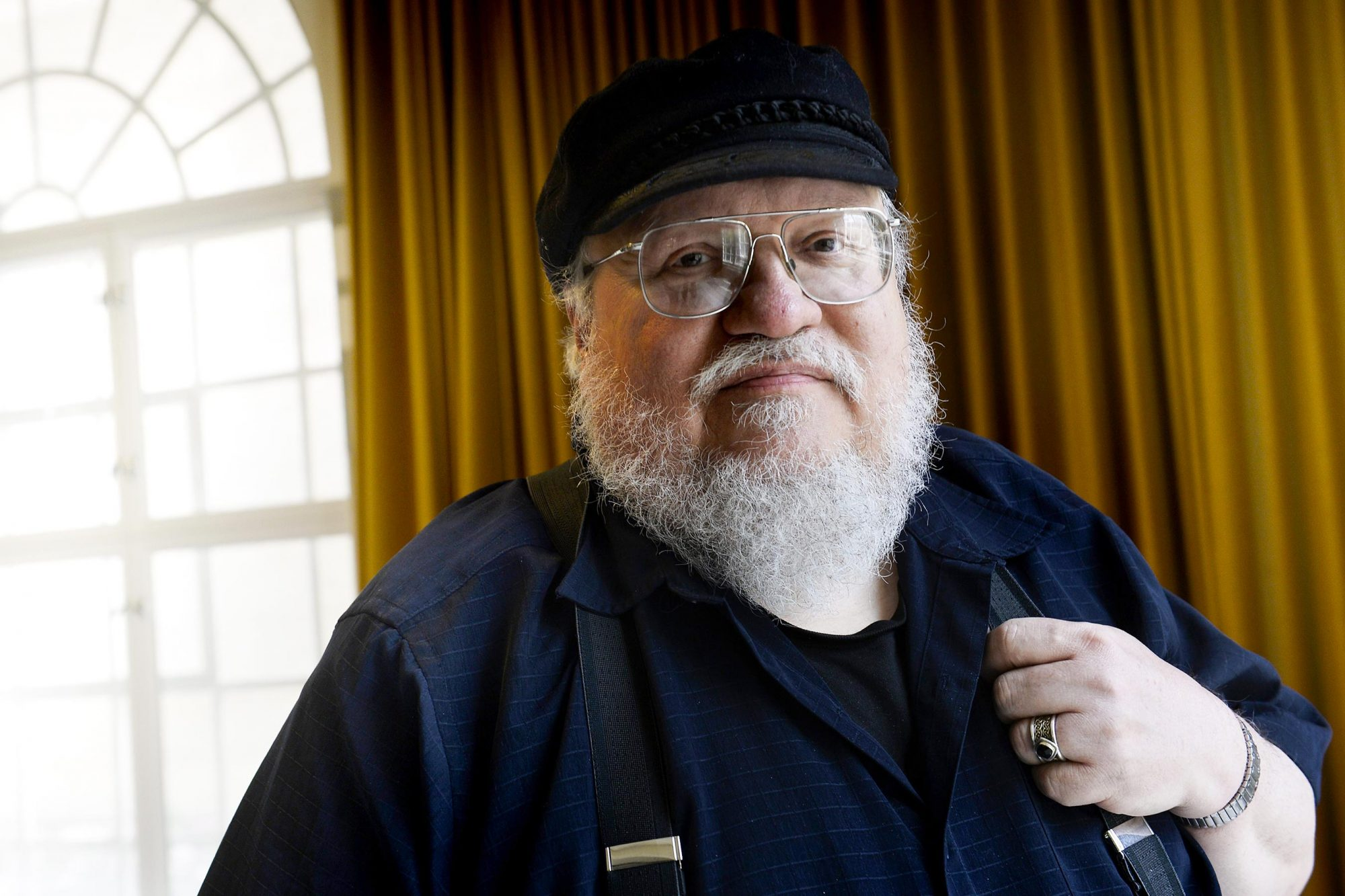 George R.R Martin photo shoot in Stockholm, Sweden - 23 Jun 2015