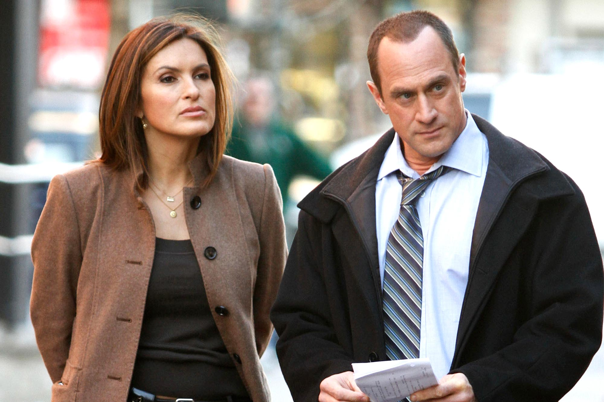 Mariska Hargitay and Chris Meloni