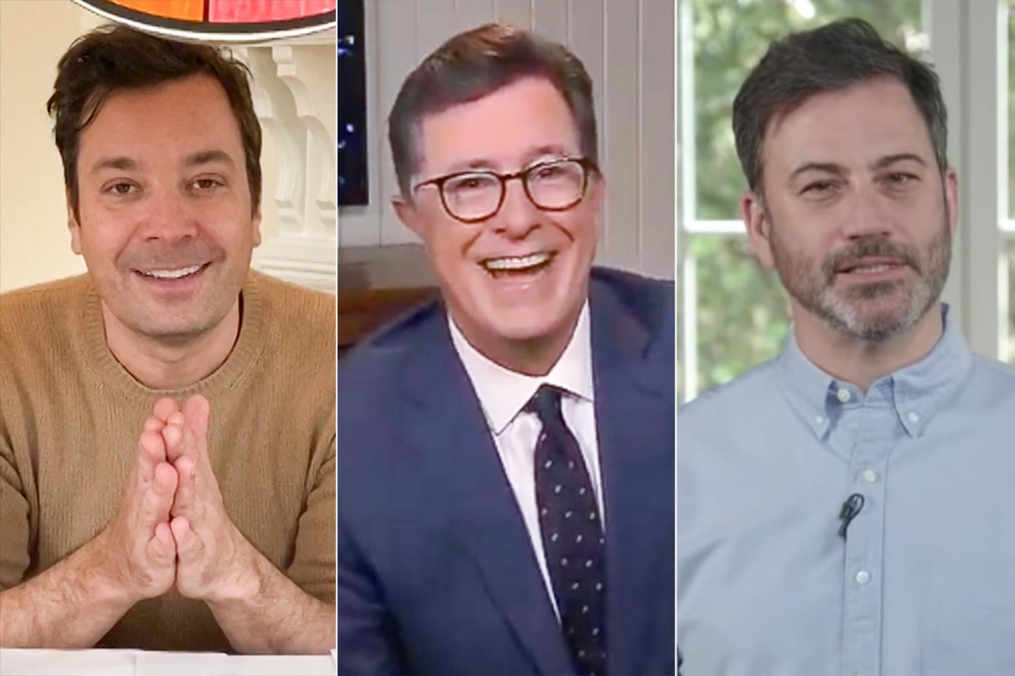 Jimmy Fallon, Stephen Colbert, and Jimmy Kimmel