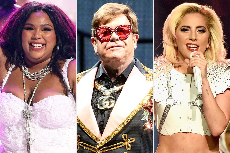Lizzo, Elton John, Lady Gaga