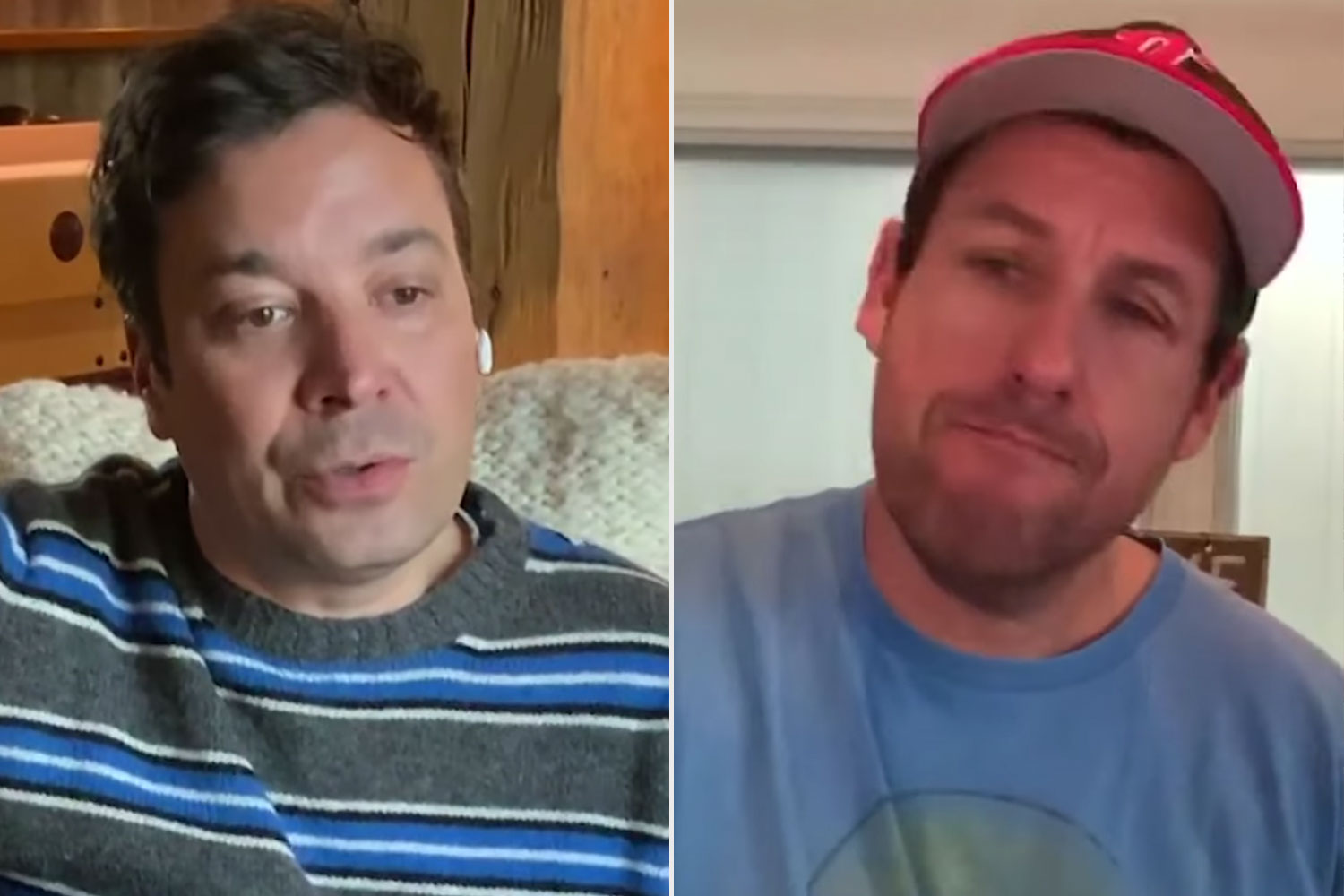 Jimmy Fallon and Adam Sandler
