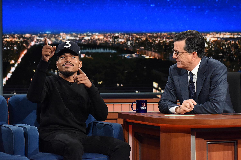 Chance the Rapper, Stephen Colbert