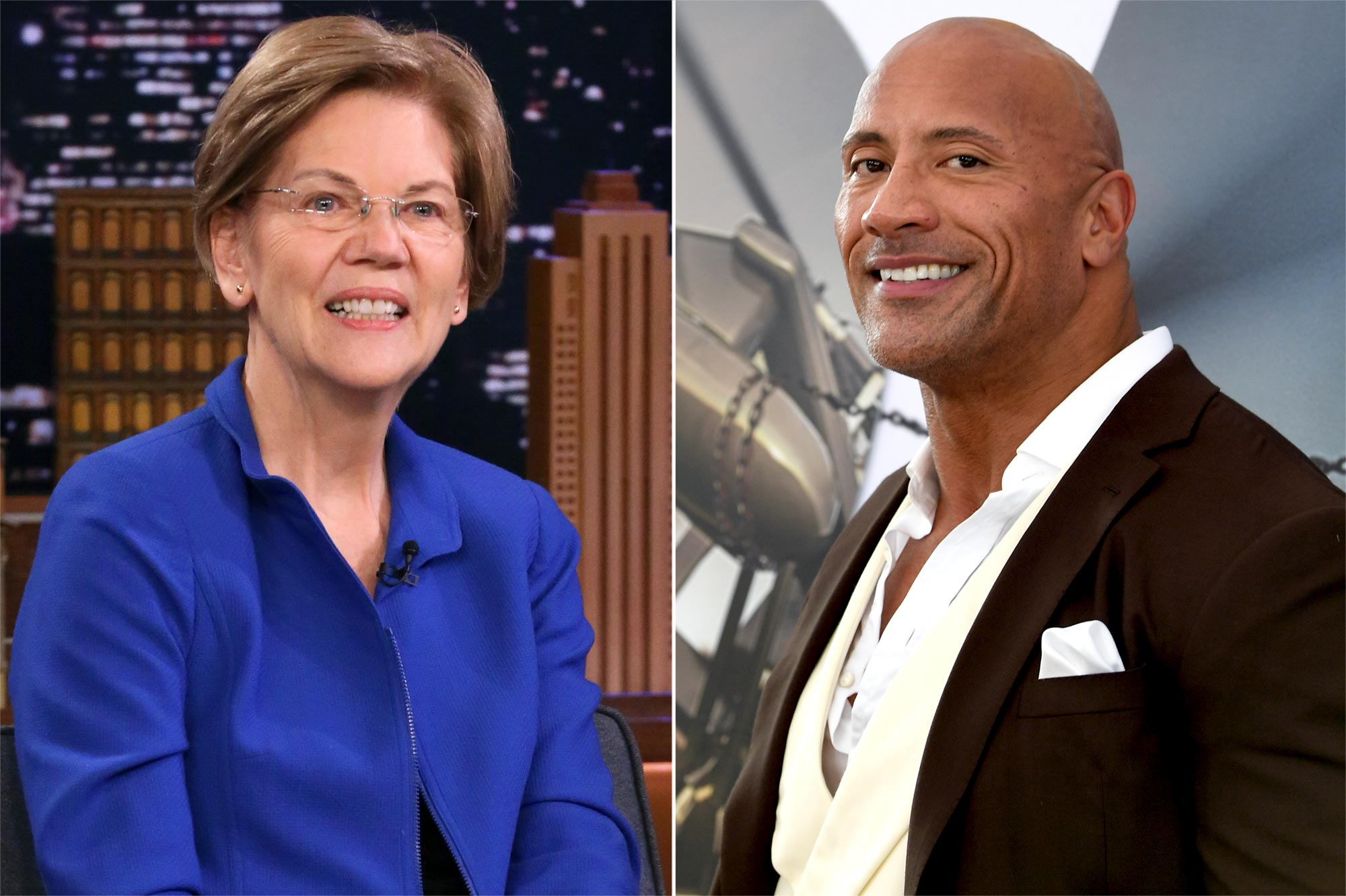 Elizabeth Warren and The Rock