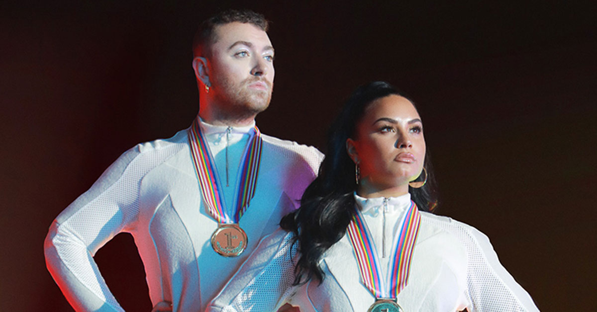 Sam Smith and Demi Lovato
