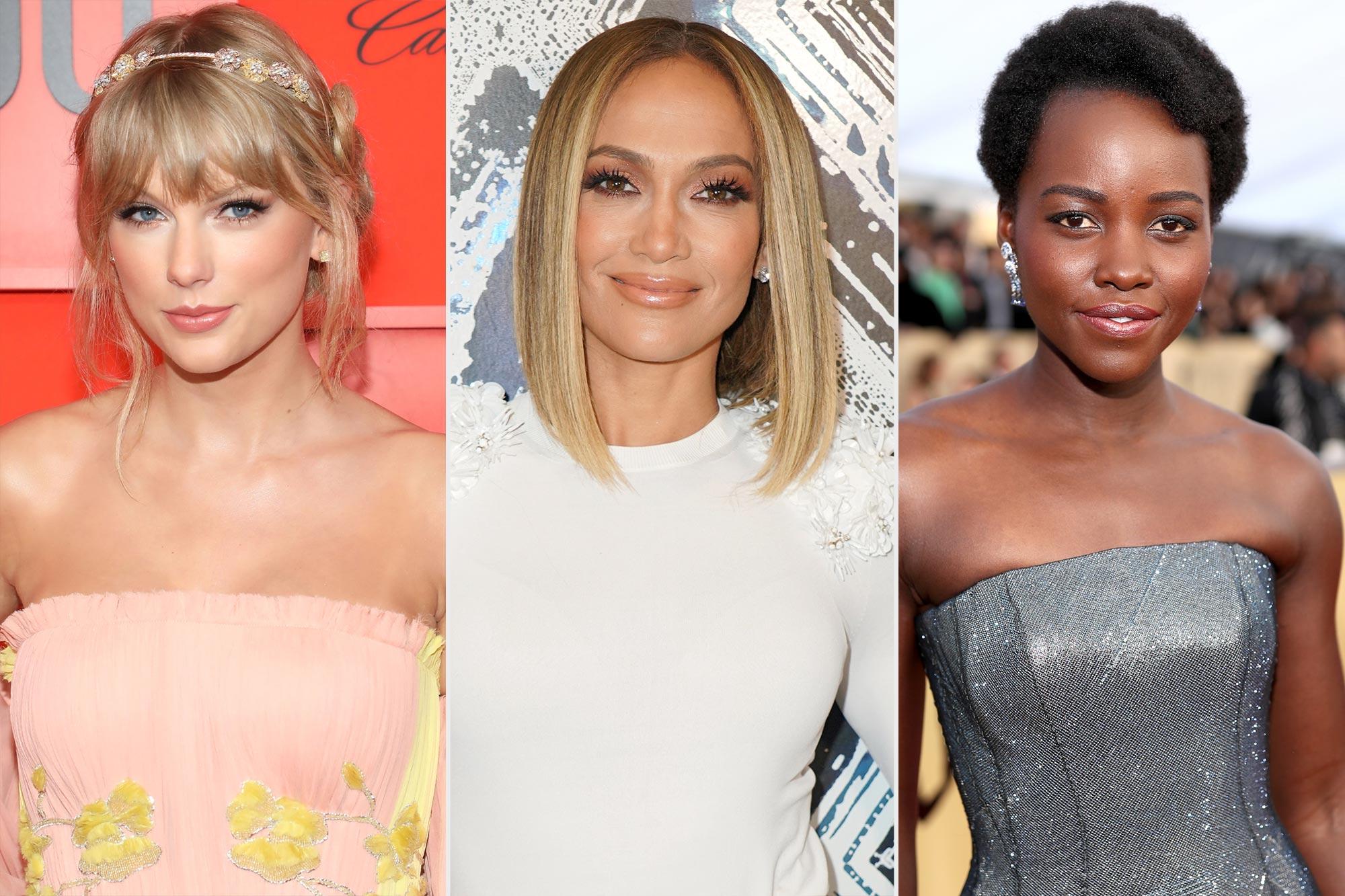 Taylor Swift; Jennifer Lopez; Lupita Nyong'o