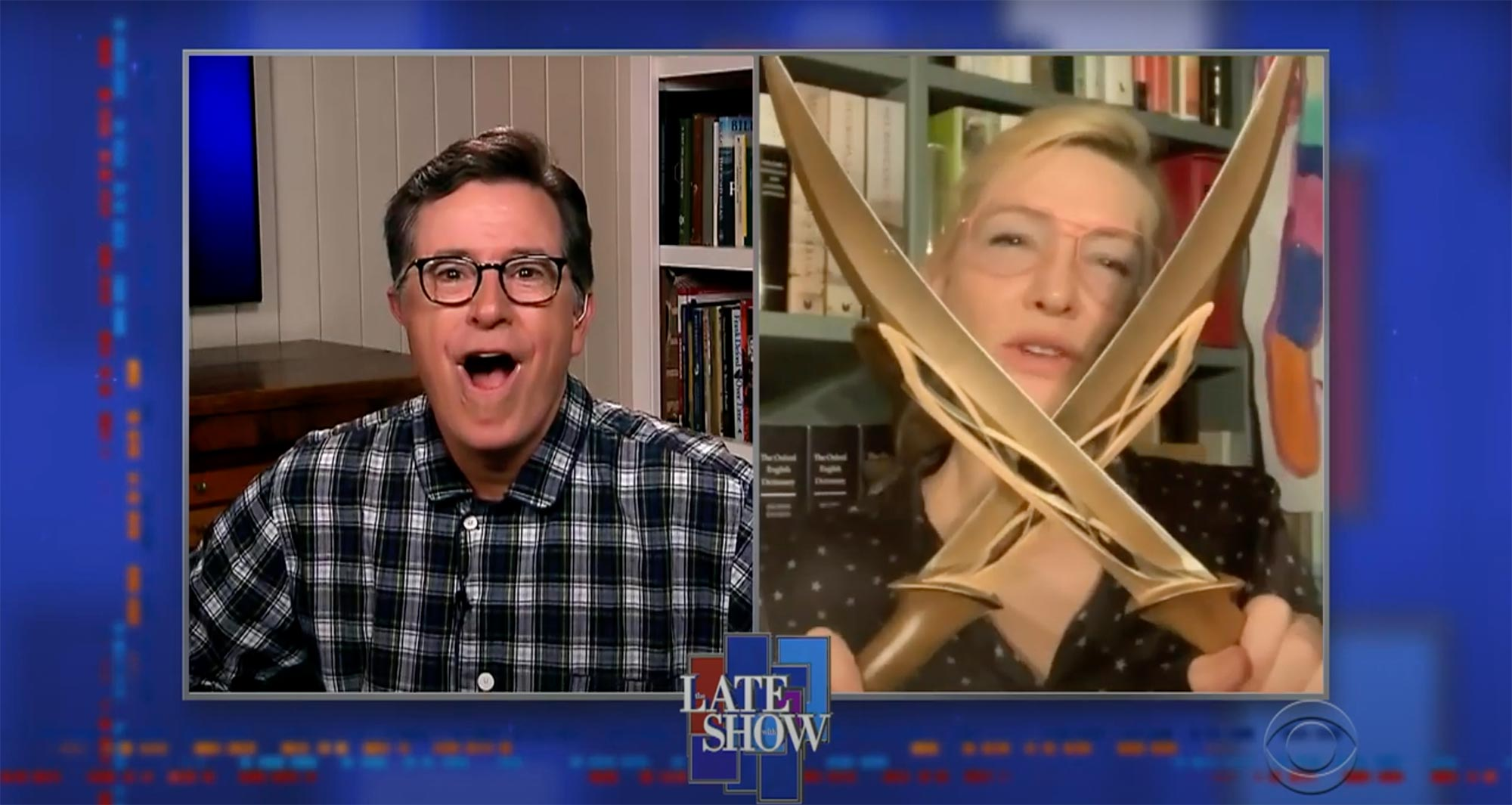 Stephen Changes Into Something More Comfortable To Talk To Cate Blanchett