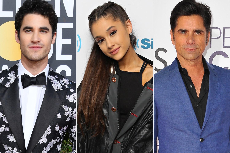 Darren Criss, John Stamos, and Ariana Grande