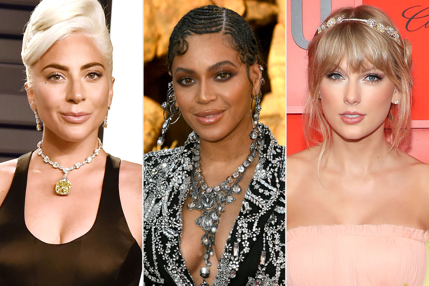 Beyonce, Taylor Swift, Lady Gaga