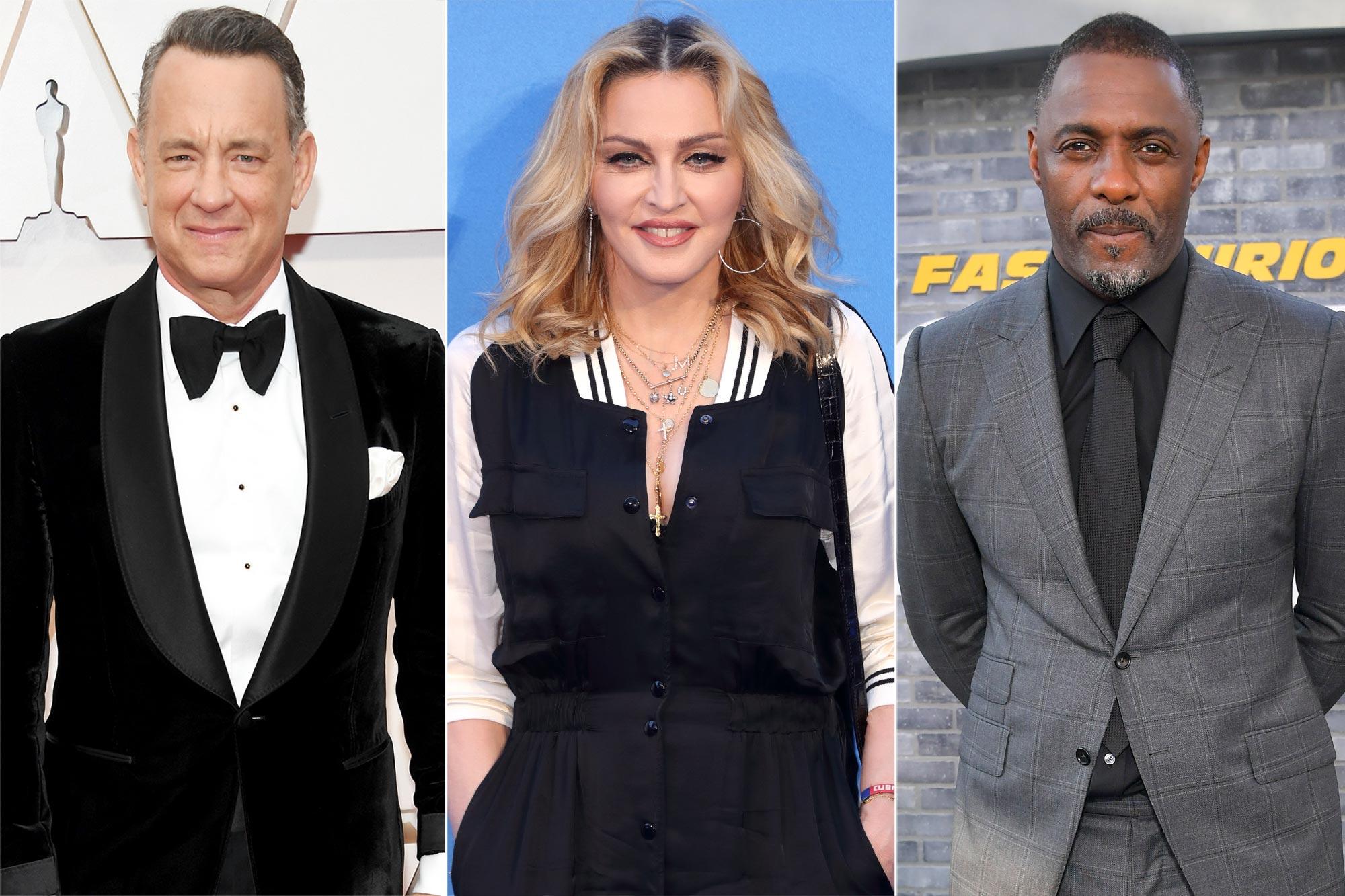 Tom Hanks, Madonna, Idris Elba