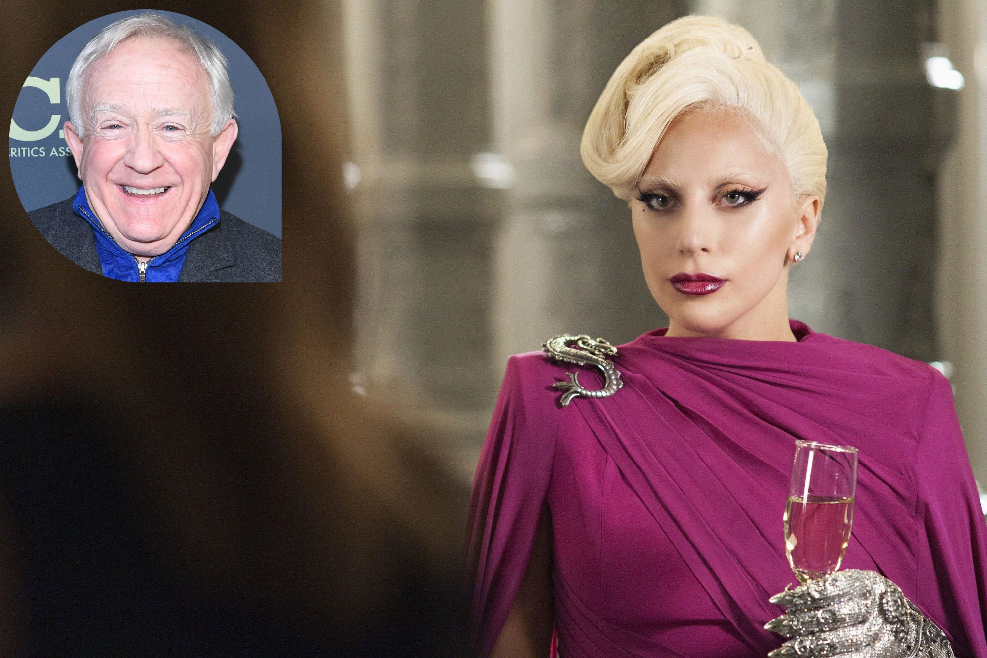 Lady Gaga and Leslie Jordan