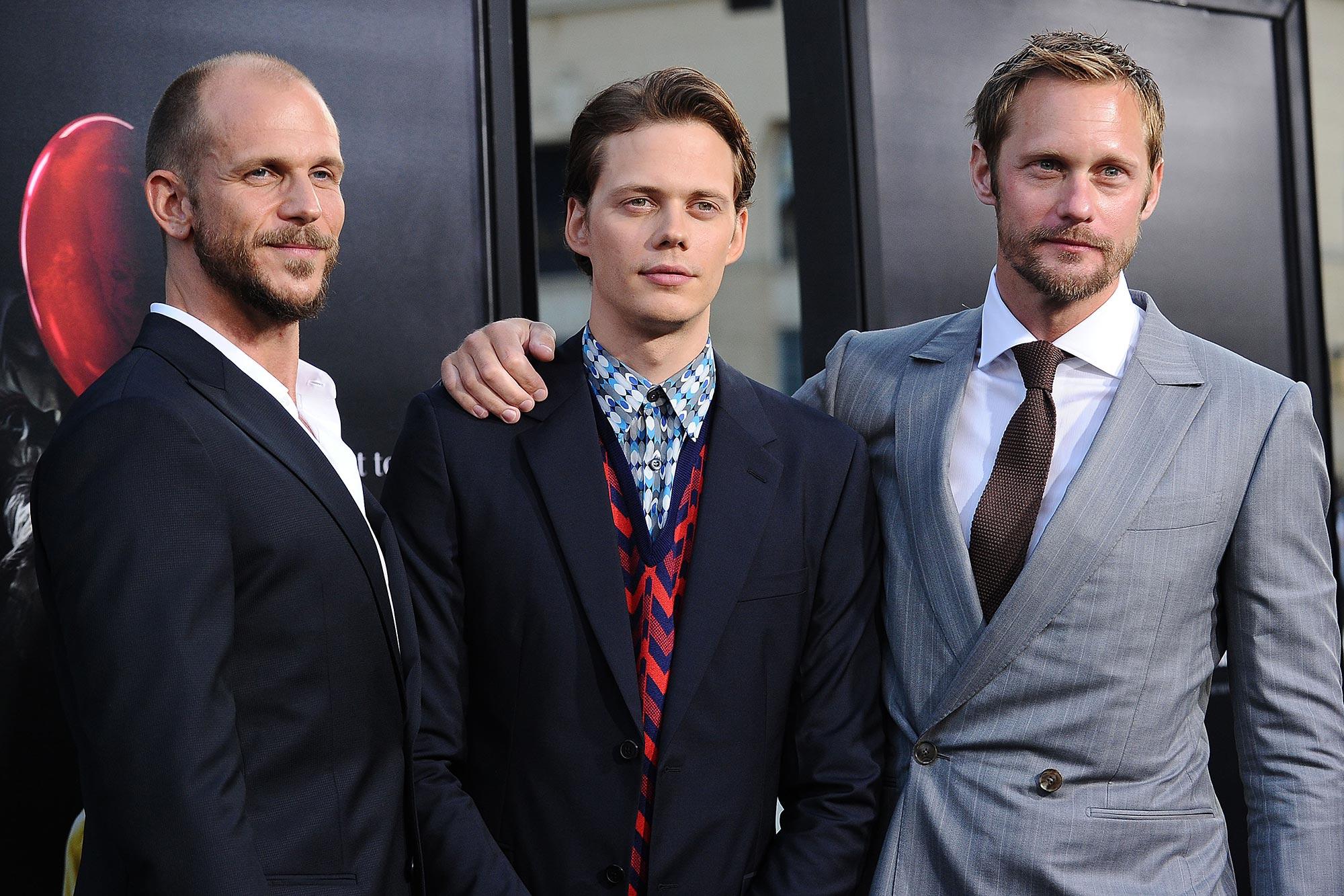 Gustaf Skarsgard, Bill Skarsgard and Alexander Skarsgard