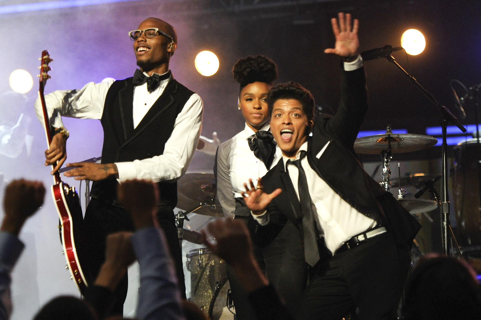 B.O.B, Janelle Monae and Bruno Mars