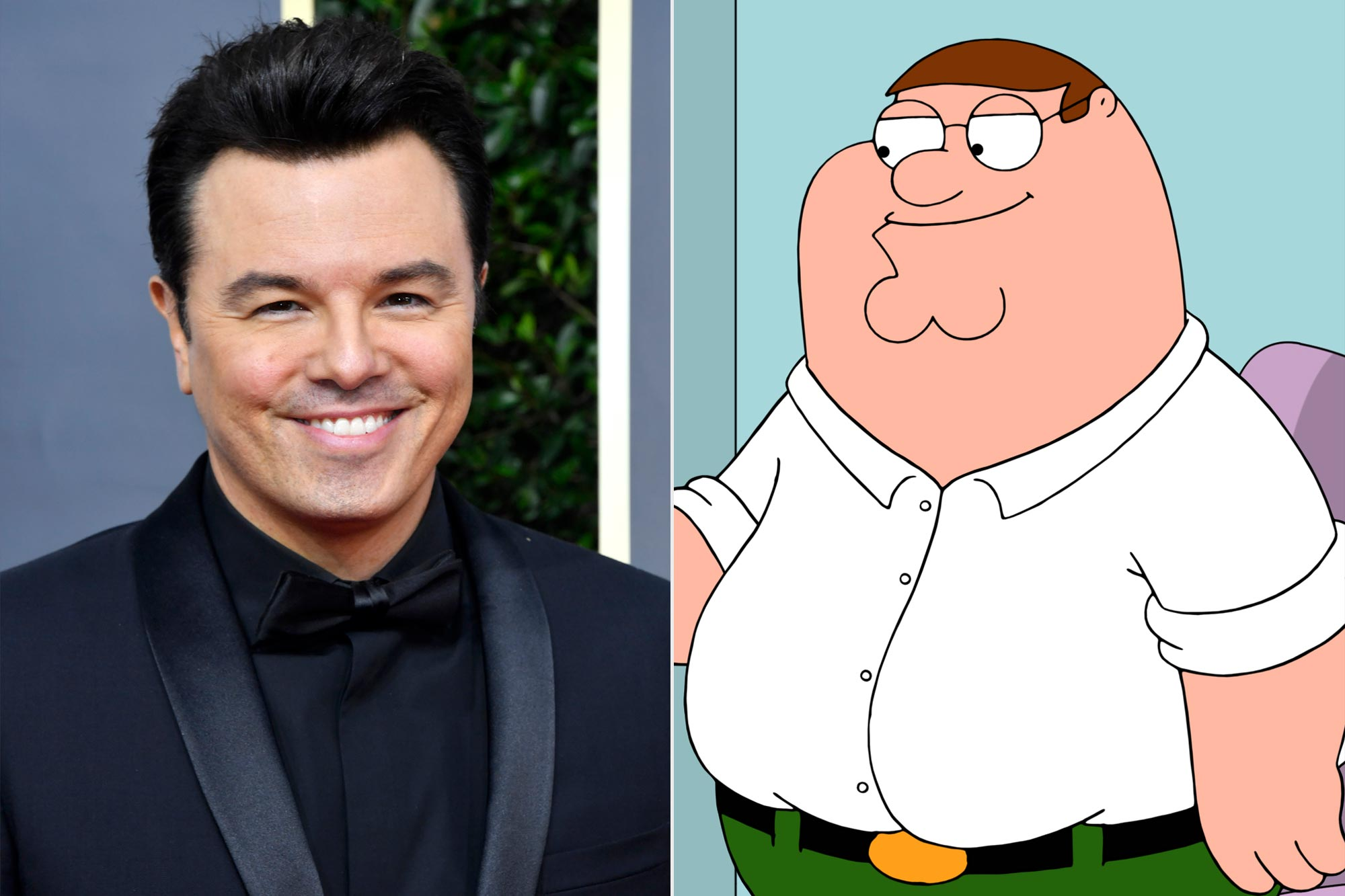 Seth MacFarlane and Peter Griffin
