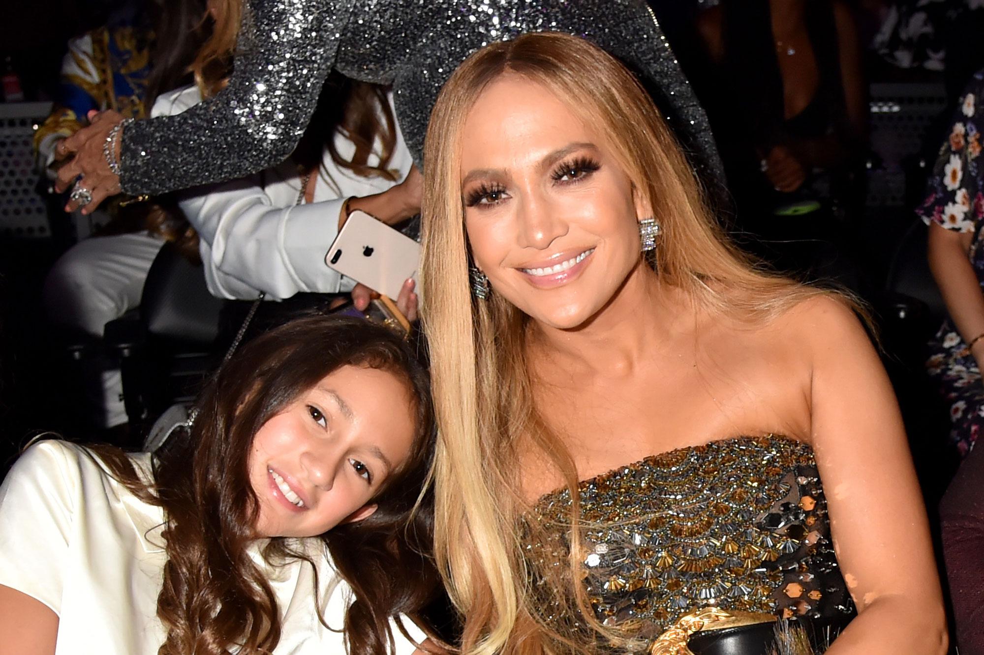 Jennifer Lopez, with daughter Emme
