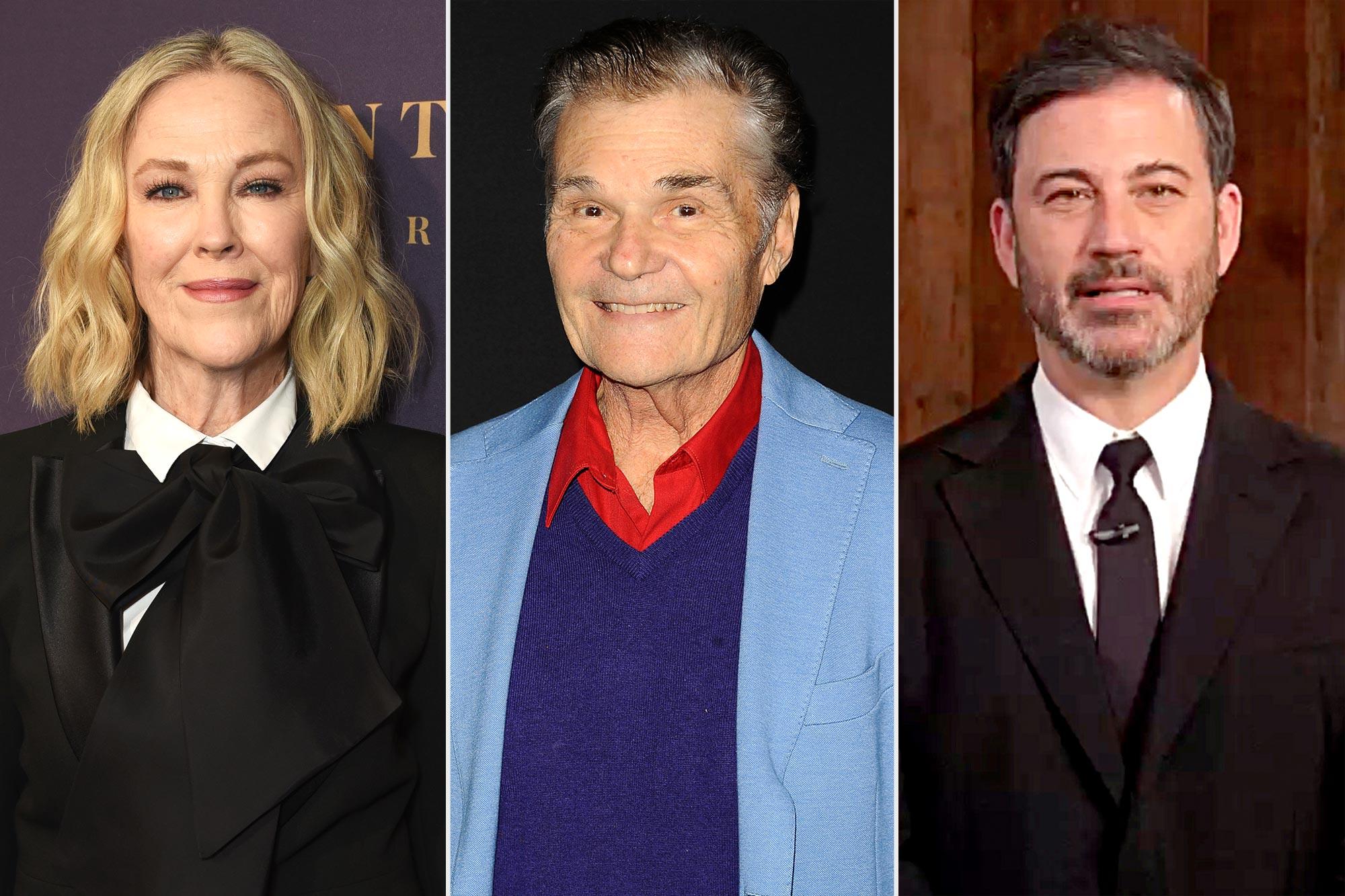 Catherine O'Hara, Fred Willard, and Jimmy Kimmel