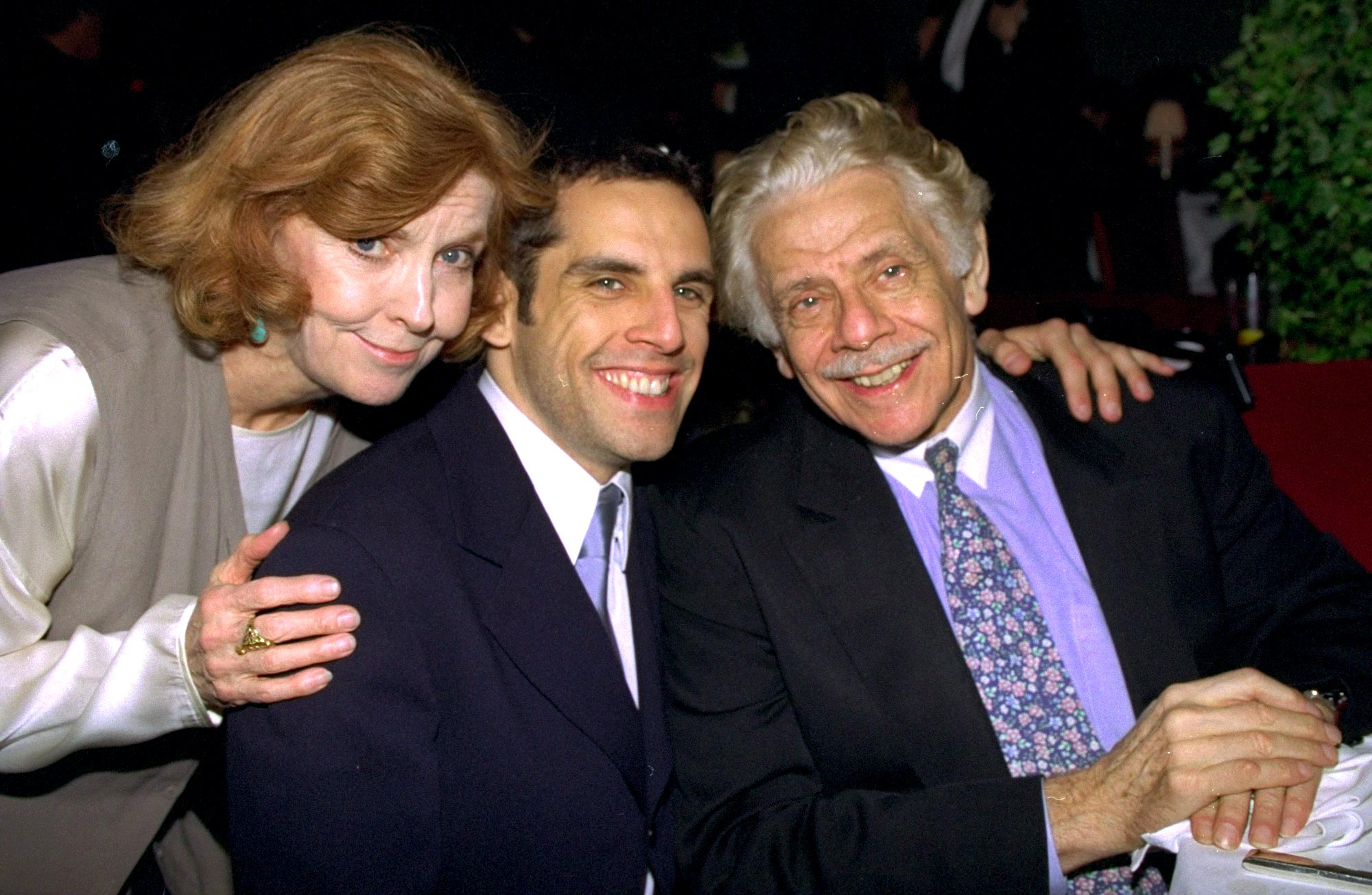 Ben Stiller with his parents, Jerry Stiller and Anne Meara