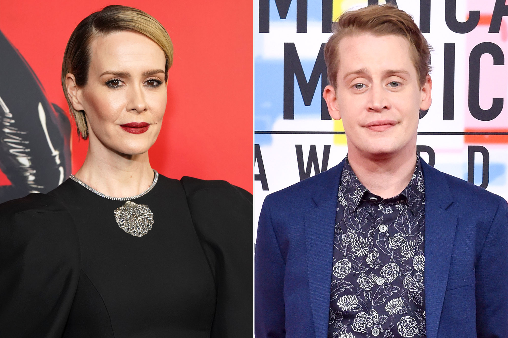 Sarah Paulson and Macaulay Culkin