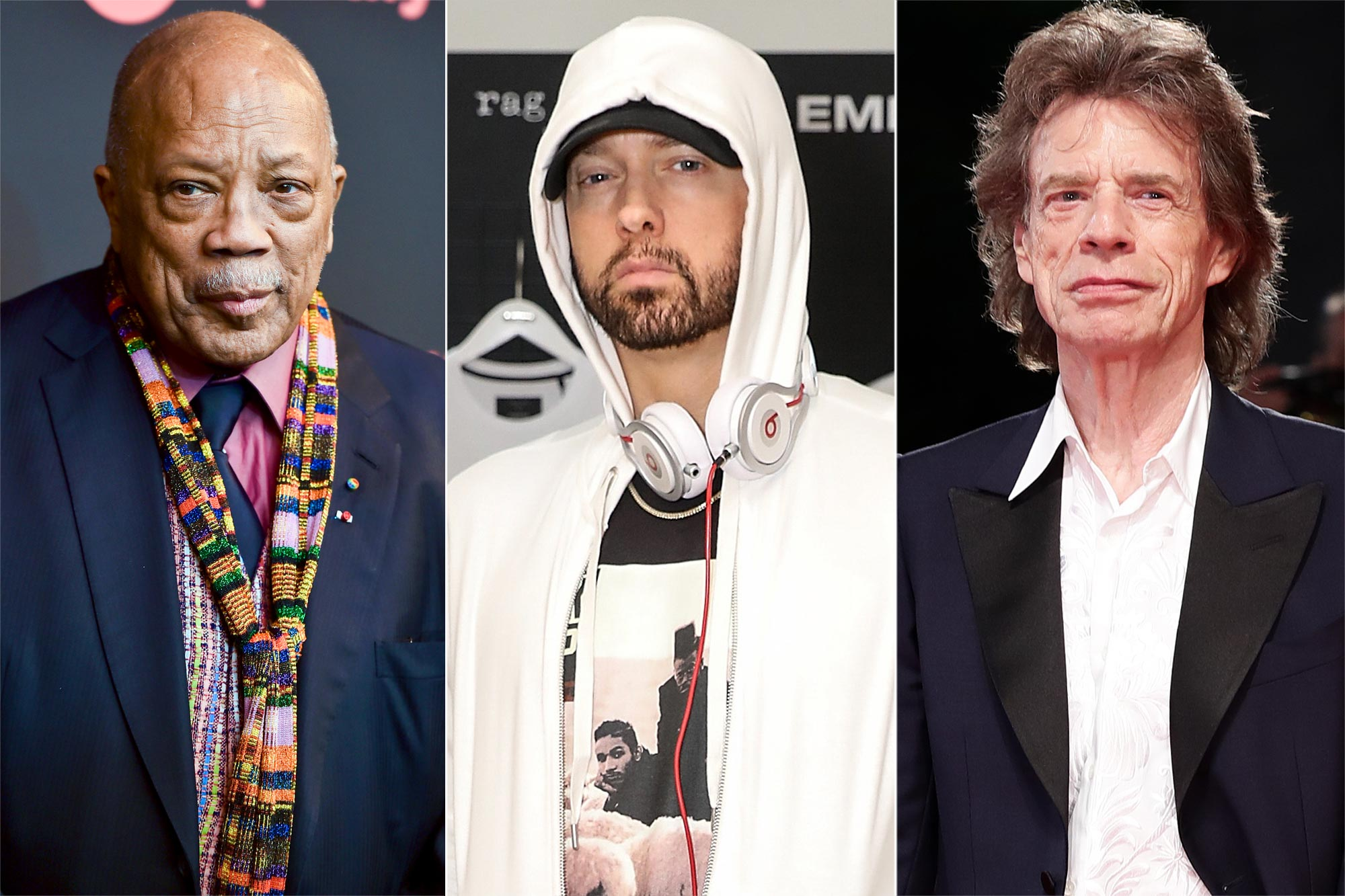 Quincy Jones, Eminem, Rolling-Stones