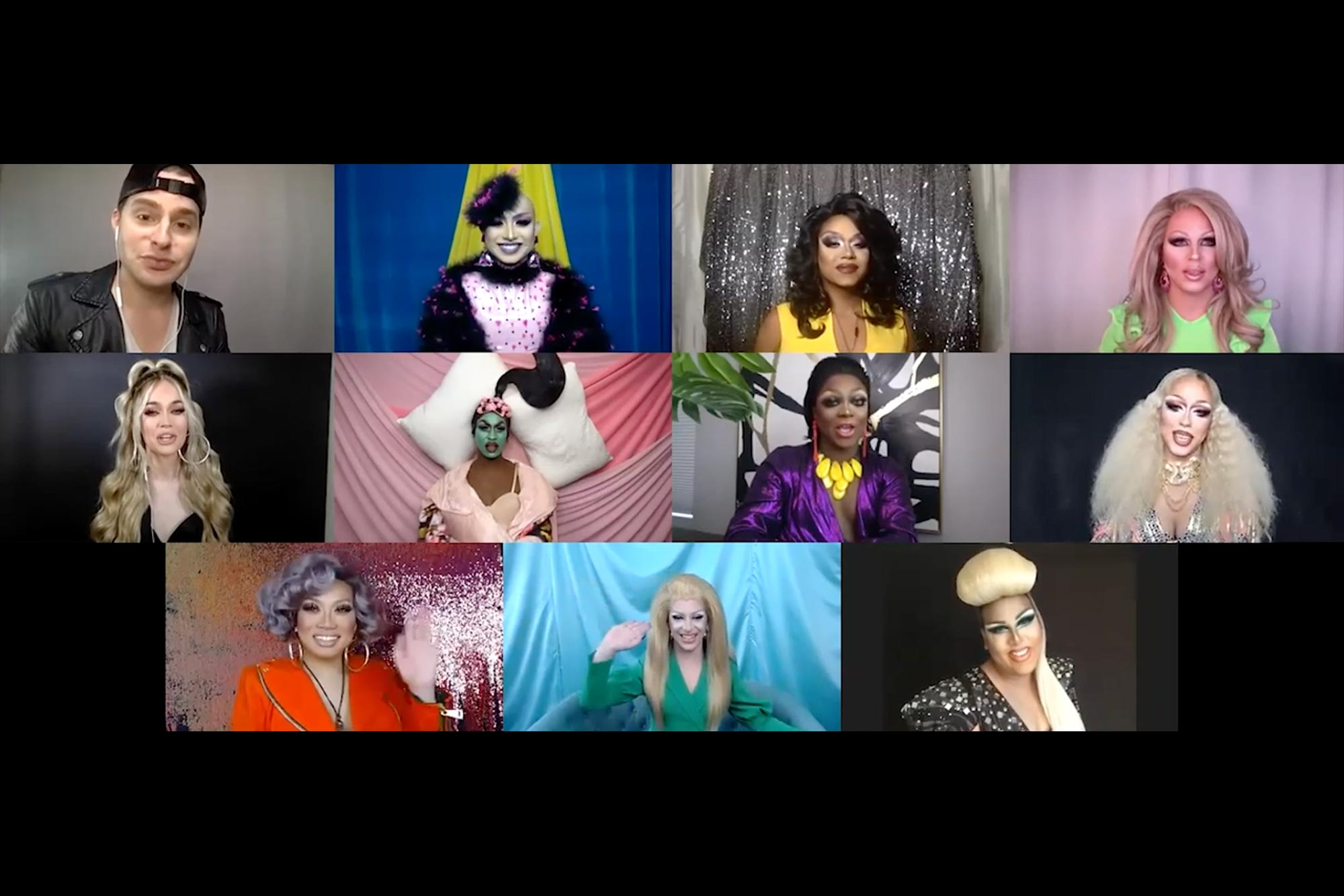 RuPaul's Drag Race All Stars round the table