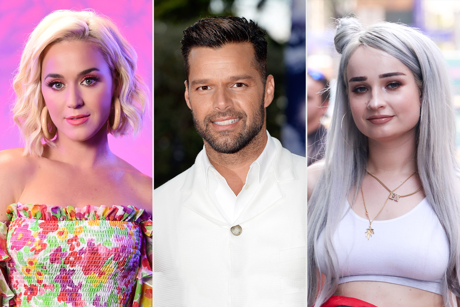 Katy Perry, Kim Petras, and Ricky Martin