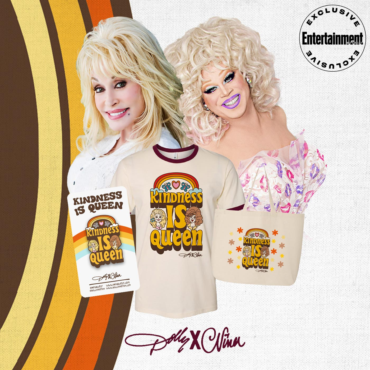 "NINA WEST AND DOLLY PARTON TEAM UP FOR ""DOLLY X NINA: KINDNESS IS QUEEN"" COLLECTION"
