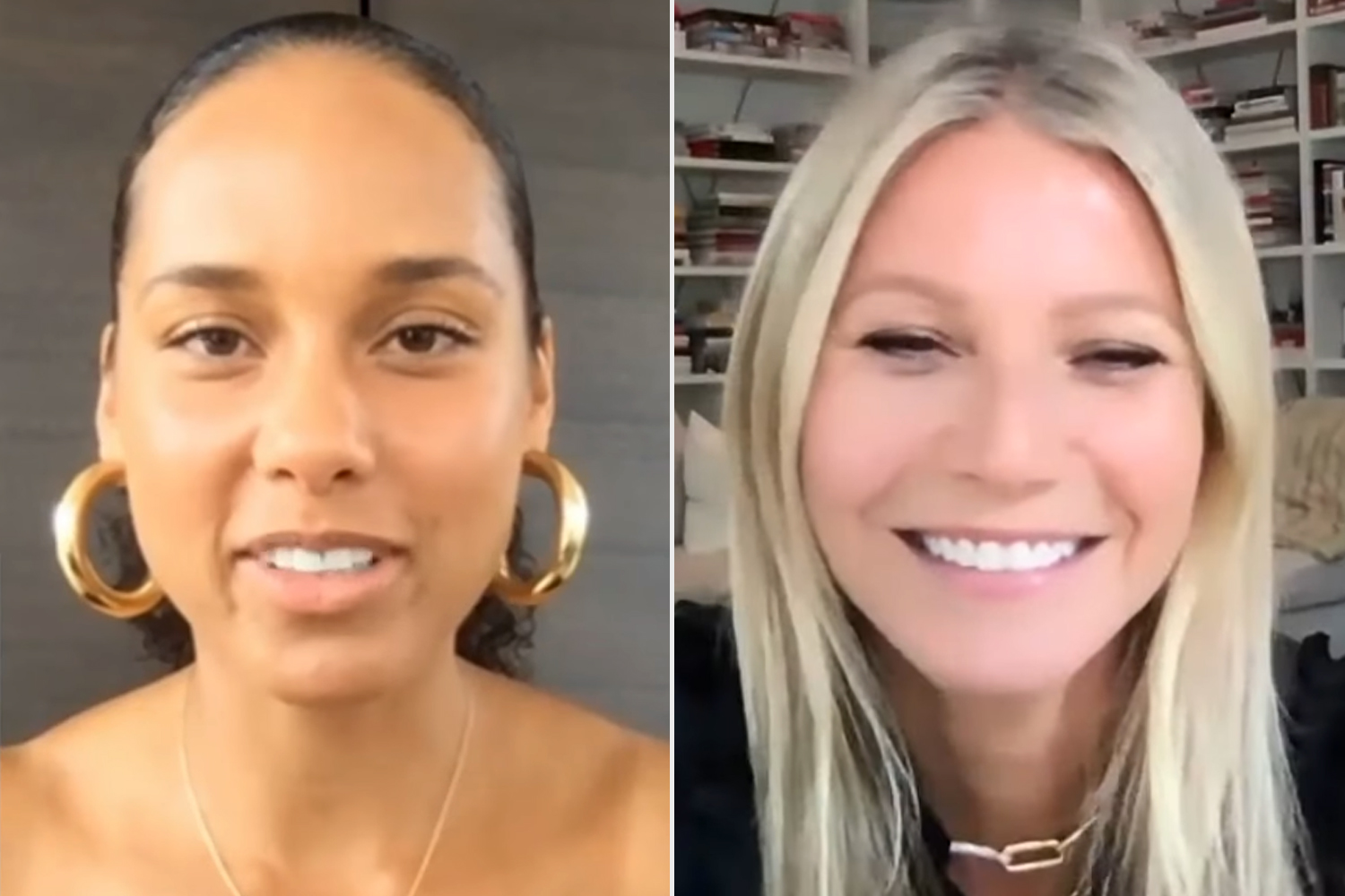Alicia Keys; Gwyneth Paltrow